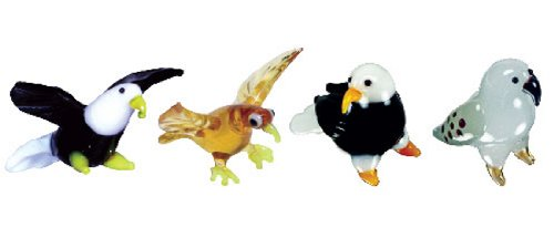 Looking Glass Miniature Collectible - Eagle / Hawk / Falcon (4-Pack)