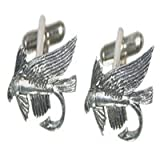 X2PC039 - Fly Fish Hook Pewter Cufflinks