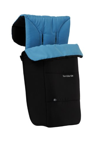 Bumbleride 2011 Footmuff and Liner Fits Flyer/Indie/Indie Twin/Flite Stroller, Jet (Discontinued by Manufacturer) - 1