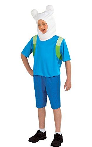 Finn The Human - Adventure Time - Bambini Costume - Large - 147 centimetri