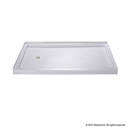 Lowest Prices! DreamLine SlimLine 36 in. x 60 in. Single Threshold Shower Base, Left Hand Drain, DLT...
