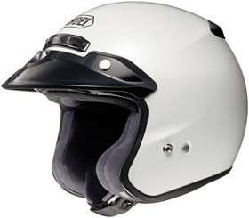 Shoei RJ PLATINUM R SERIES CRUISER Crystal WHITE SIZE:XLG Open Face Motorcycle Helmet