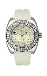 Zodiac Desert Falcon Swiss Quartz Movement White Mother-of-Pearl Dial Women's Watch #ZO4525 special-black-white