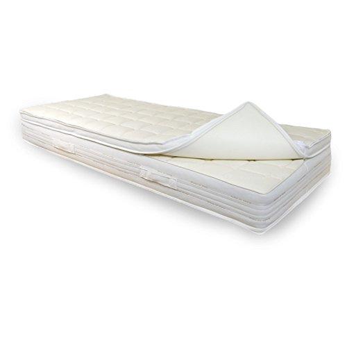 """ENKI Materasso Memory Comfort """"alla francese"""", assemblato materasso + topper, 140x190 alto 20cm, rivestimento sfoderabile Jacquard"""