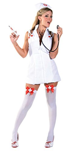 Underwraps Womens Sexy White Medical Nurse Intensive Care Halloween Costume