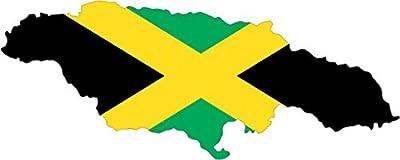 """5""""x2"""" Jamaica Jamaican Die Cut Flag Bumper Sticker Decal Vinyl Car Window Stickers Decals"""