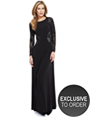 M&S Collection Floral Lace Insert Maxi Dress