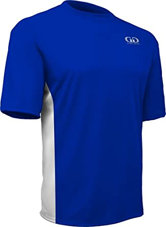 PT803PS Mens Pro Short Sleeve Athletic Workout Shirt with Side Panels by Game Gear