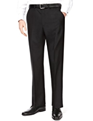 Collezione Flat Front Eveningwear Trousers with Wool