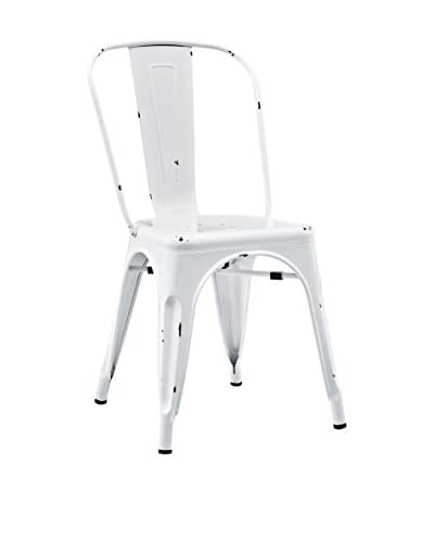 Walker Edison Kid's Metal Café Chair, White