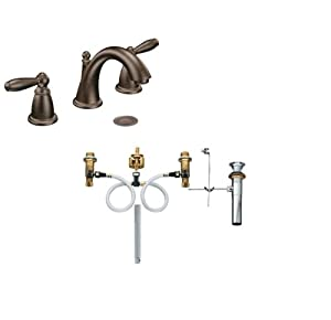 Moen T6620ORB 9000 Oil Rubbed Bronze Brantford Double Handle Widespread Bathr