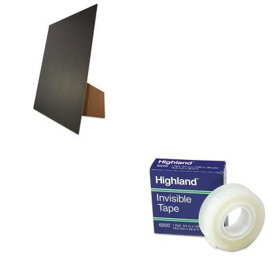 Kitgeo27119Mmm6200341296 - Value Kit - Geographics Easel Backed Board (Geo27119) And Highland Invisible Permanent Mending Tape (Mmm6200341296)
