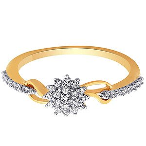 Rivaaz Gold CZ Ladies Ring RZR00037