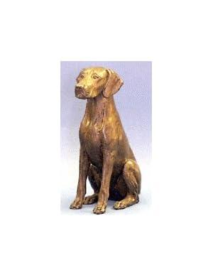 Weimaraner (Sitting) : Cold-cast Bronze Figurine 4.5 inches high
