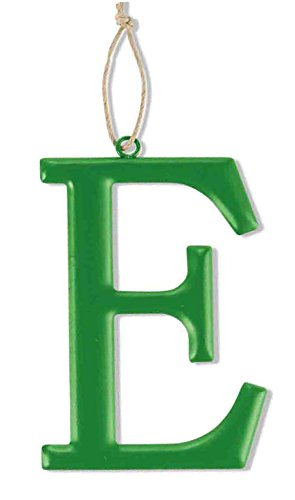 Mud Pie Tin Initial Wall Hanging for Boy, E, Large