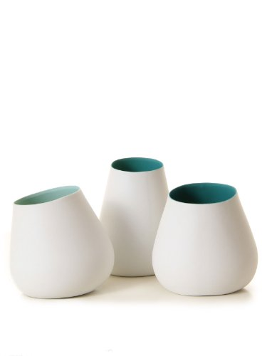 Bloomingville Votive porcelaine Vase white green one size