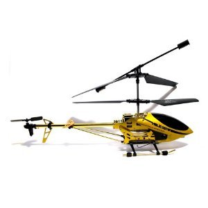 Bilder von Gyro R/C - 3,5 Kanal Helikopter - EASY FLY  - 40cm - gold - OUTDOOR - HUBSCHRAUBER flugfertig - Helikopter mit LEDs - 4D Full Flight