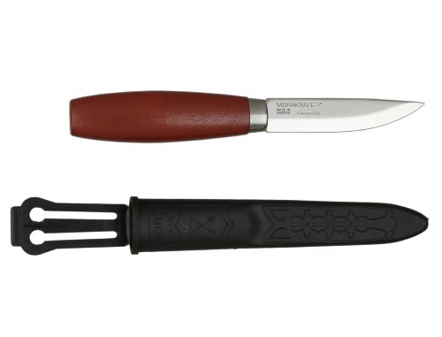 Morakniv Classic No 2/0 Wood Handle Utility Knife with Carbon Steel Blade, 2.9-Inch (Morakniv Classic compare prices)