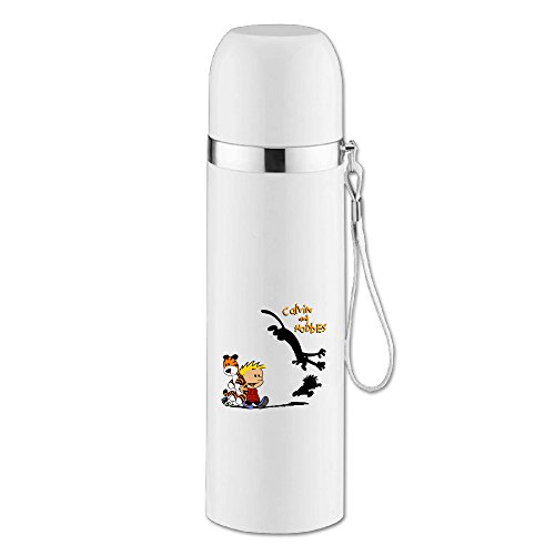 QiBePlo Thomas Hobbes Tiger Calvin And Hobbes Bullet Head Stainless Steel Vacuum Thermal Insulation Cups (Tiger Head Bottle Opener compare prices)