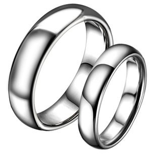 OPK Classic Dome Tungsten Carbide Wedding Band Anniversary/Engagement/Promise/Couple Ring Best Gift!