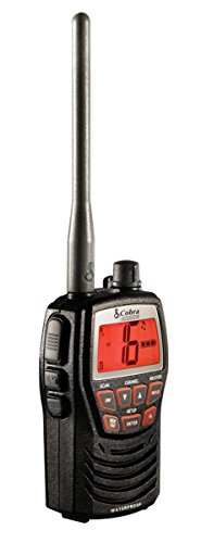 Cobra Electronics MRHH125 Compact Waterproof Marine Handheld VHF Radio with 1 or 3 Watts (Black)
