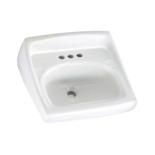 Why Choose The American Standard 0355.012.020 Lucerne Wall-Mount Lavatory Sink with 4-Inch Faucet Ho...