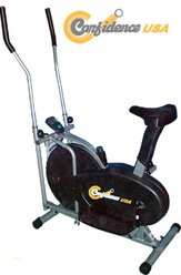 Confidence Fitness 2-in-1 Elliptical Trainer