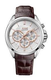 Men's Brown Hugo Boss Driver Chronograph Watch 1512881