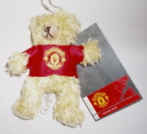 OFFICIAL MANCHESTER UNITED FC KEYRING TEDDY BEAR