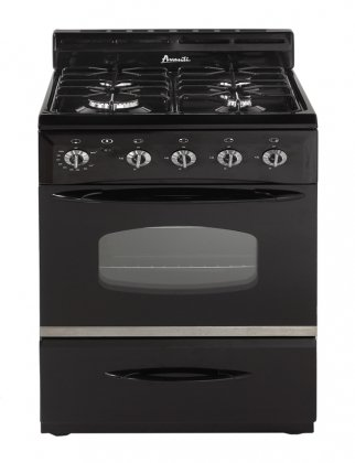 Avanti G2407CB 24-Inch Gas Range with Sealed Burners, Black