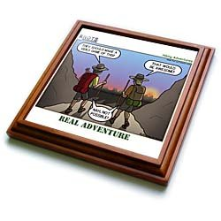 Knots Hiking Adventure - Real Adventure - 8x8 Trivet With 6x6 Ceramic Tile