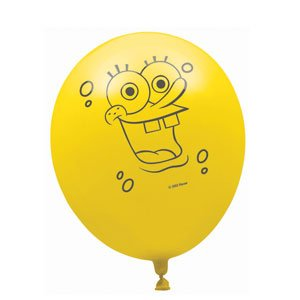 Spongebob Squarepants Party 6 Pack Lates Balloons