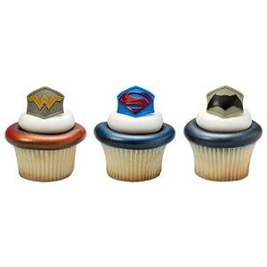 Batman v. Superman: Dawn of Justice Emblem Cupcake Rings - 24 ct at Gotham City Store