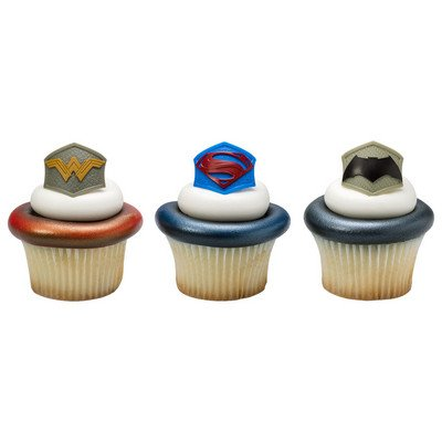 Batman v. Superman: Dawn of Justice Emblem Cupcake Rings - 24 ct at Gotham City Store