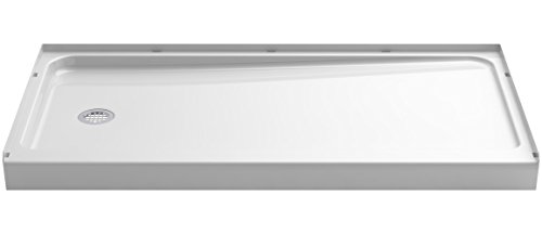 Sterling 72181110-0 Series 7128 Ensemble Shower Base with Left-Hand Drain, 60 x 32-Inch, White (Shower Drain Pan compare prices)