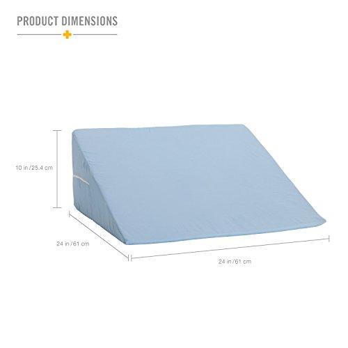 dmi foam bed wedge pillow acid reflux pillow leg elevation pillow blue 10 x 24 x 24 inches seniors emporium