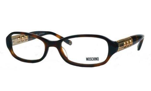 MoschinoMoschino Women's MO 050 Havana (02) Frame Clear Lens Full Rim Eyeglasses 52mm
