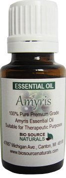 Amyris (Amyris Balsamifera) Pure Essential Oil 0.5 Fl Oz / 15 Ml