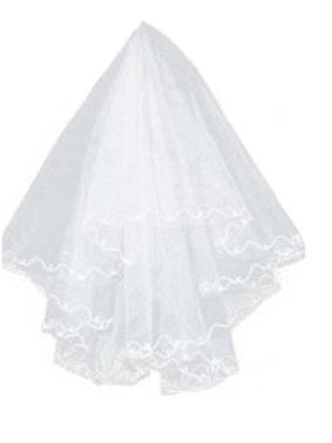 美しいウェディングベール ブライダルベール 1層ベール 1重 花嫁用品 結婚式アイテム  ホワイト