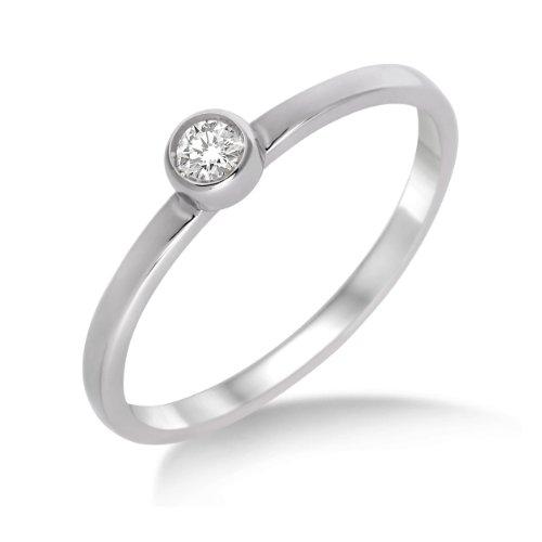 Diamond Ring, 9ct White Gold, Diamond Solitaire