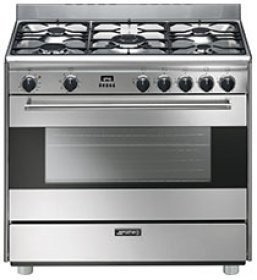 Smeg S9GMXU 36 Free-Standing Dual Fuel Range - Stainless Steel