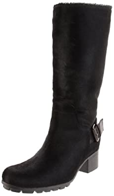 Aquatalia by Marvin K. Women's Quirky-PN Boot,Black Pony,6.5 B US