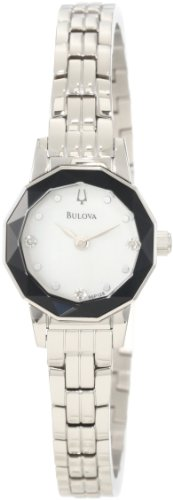 Bulova Women'S 96P128 Diamond Faceted Watch