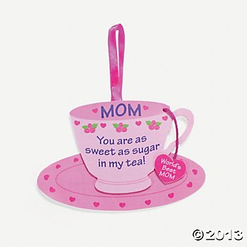 Foam Mom Tea Cup Ornament Craft Kit/Craft Kits/Tea Pot/Ornament