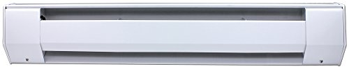 King 5K2410A 1,250-938-Watt 277/240-Volt 5-Foot Baseboard Heater, Almond