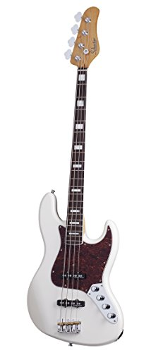 Schecter DIAMOND-J PLUS 4-string Ivory 4-String Bass Guitar, Vintage Ivory