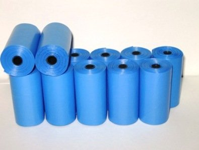 220 Biodegradable, Dog Waste Bags, Pet Waste Bags - BLUE + FREE Bone Dispenser, by Pet Supply City LLC