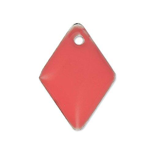rombi-in-smalto-epossidico-15-mm-rosa-corallo-x8