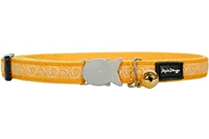Red Dingo Designer Cat Collar, Cosmos Yellow