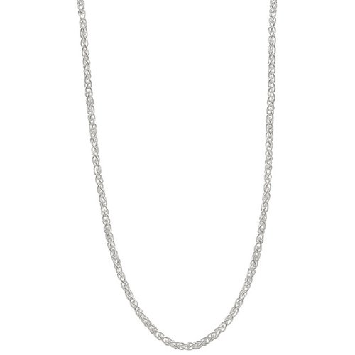 Sterling Essentials Sterling Silver 16-inch Italian Wheat Chain (1.5mm)